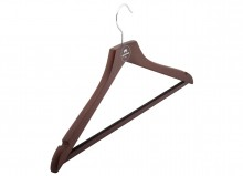Hanger with rubber insert square bar
