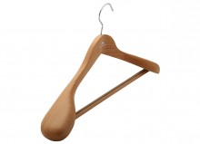 Hanger for outwear with rubber insert square bar