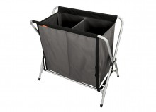Foldable laundry basket, 2 sections