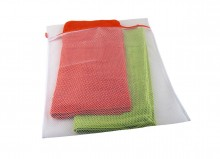 Zipped laundry mesh bag